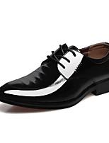 Черный-Для мужчин-Для офиса Повседневный-Микроволокно-На низком каблуке-Удобная обувь-Туфли на шнуровке
