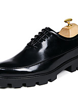 Men's Oxfords Spring Summer Creepers Formal Shoes Comfort PU Wedding Outdoor Office & Career Party & Evening Casual Black Red Gold
