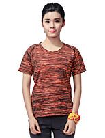 LEIBINDI Femme Manches courtes Course / Running Tee-shirt Respirable Séchage rapide Vestimentaire Confortable Eté Vêtements de sport