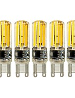 KWB NEW 5W E14 G9 G4 LED Bi-pin Lights T 4 COB 450 lm Warm White /White Dimmable AC 220-240 V 5 pcs