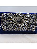 Для женщин Специальный материал Для праздника / вечеринки Для свадьбы Вечерняя сумочка Темно-синий