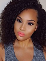 New Fashion Kinky Full Lace Wig 130%density Brazilian Virgin Hair Short Bob Wigs For Black Woman with Baby Hair Natural Color 8-26inch