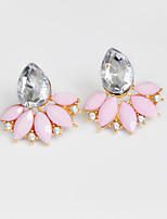 Drop Earrings Earrings Set Earrings Rhinestone AAA Cubic ZirconiaBasic Flower Style Cute Style Handmade Fashion Personalized Simple Style