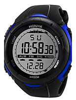 Men's Sport Watch Digital Watch Chinese Digital Silicone Band Black