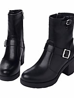 Women's Boots Fall Winter Slingback PU Casual Chunky Heel Block Heel