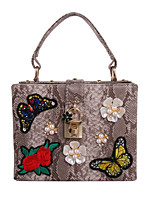 Women PU Formal Casual Event/Party Tote/Handbag/Pearl/Butterfly Embroidery/Reticule/Cultch/Box/Butterfly Flower
