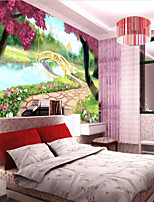 Botanical 3D Wallpaper For Home Contemporary Wall Covering  Canvas Material Adhesive required Mural  Room WallcoveringXXXL(416*254cm)XL(312*219cm)