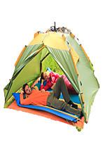 3-4 Pessoas Tenda Duplo Tenda Automática Um Quarto Barraca de acampamento >3000mm Alúminio Oxford Poliéster TafetáÁ Prova de Humidade