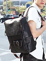 Men Backpack PU All Seasons Formal Sports Casual Office & Career Shopping Bucket Zipper Black