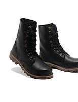 Черный-Для мужчин-Повседневный-Резина-На низком каблуке-Светодиодные подошвы-Ботинки