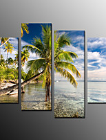 Photographic Print Modern,Four Panels Canvas Horizontal Print Wall Decor For Home Decoration