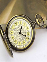 Мужской Карманные часы Механические часы С автоподзаводом сплав Группа Бронза