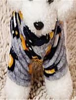 Hunde Overall Hundekleidung Winter Geometrisch Niedlich Grau Blau Rosa