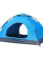 3-4 personnes Tente Unique Tente automatique Une pièce Tente de camping 1000-1500 mm Fibre de verre OxfordRésistant à l'humidité Etanche
