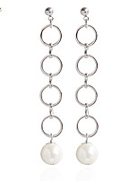 Drop Earrings Earrings Set Earrings Imitation Pearl Basic Circle Cute Style Fashion Adorable Simple Style Classic DIYImitation Pearl