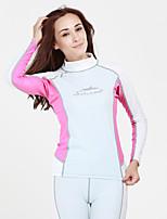Esportivo Camisa de Mergulho Respirável Secagem Rápida Design Anatômico Neoprene Fato de Mergulho Manga Comprida Blusas-MergulhoPrimavera