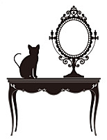 Wall Stickers Wall Decas Style Creative Dresser Mirror PVC Wall Stickers