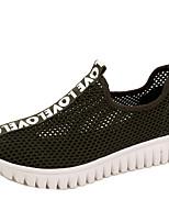 -Для женщин-Для прогулок Повседневный Для занятий спортом-Тюль-На плоской подошве-Удобная обувь Кольцевые обувь-Мокасины и Свитер
