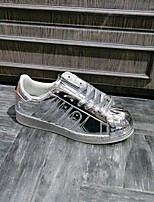 Women's Sneakers Spring Comfort PU Casual Silver Gold