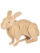 Пазлы 3D пазлы Строительные блоки Игрушки своими руками Rabbit Дерево Модели и конструкторы