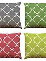 Set of 4 Creative Simple Geometry Pattern  Linen Pillowcase Sofa Home Decor Cushion Cover