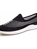 Для мужчин Спортивная обувь Удобная обувь Полиуретан Лето Для прогулок На плоской подошве Черный Серый Менее 2,5 см