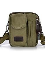 Men Shoulder Bag Canvas All Seasons Casual Messenger Zipper Army Green khaki Coffee Black