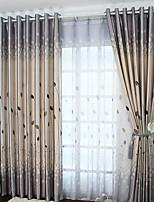 One Panel Curtain Modern  Leaf Living Room Polyester Material Blackout Curtains Drapes Home Decoration For Window