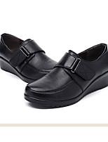 Women's Sneakers Comfort Cowhide Nappa Leather Spring Casual Brown Black Flat
