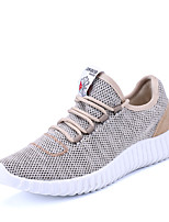 Men's Sneakers Comfort Light Soles Summer Fall PU Casual Lace-up Flat Heel Black Beige Gray Flat