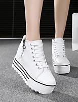 Da donna Sneakers Di corda Tessuto Primavera Bianco Nero Piatto