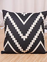 1 Pcs Geometry Black And White Wave Stripe Pillow Cover Classic Cotton/Linen Pillow Case Cushion Cover