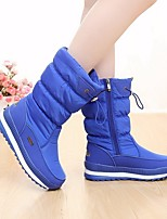 Women's Boots Comfort Suede Tulle Spring Casual Comfort Blue Black Flat