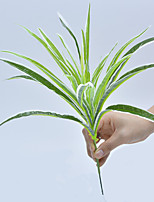 1 Branch Chlorophytum Comosum Leaf  Plant Wall Decorate Artificial Flowers