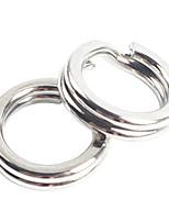 Anmuka 50pcs Fishing Split Rings For Crank Hard Bait Silver Stainless Steel 5#-11# Double Loop Split Open Carp Tool