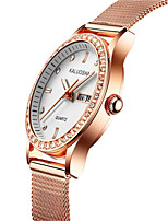Women's Fashion Watch Japanese Quartz Calendar Water Resistant / Water Proof Alloy Band Sparkle Silver Rose Gold