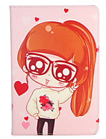 For Apple iPad Mini1 2 3/4 Case Cover with Stand Flip Pattern Full Body Case Sexy Lady Heart Hard PU Leather