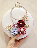Women Evening Bag PU All Seasons Event/Party Party & Evening Date Circle Magnetic Pale Pink Black White