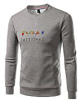 Men's Plus Size Casual Sweatshirt Solid Oversized Round Neck Fleece Lining Micro-elastic Cotton Long Sleeve Fall