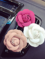 1Pcs Creative Cortical Camellia Automobile Air-conditioning Outlet Car Clip Car Perfume Car Perfume Color Random