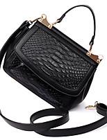 Women Shoulder Bag PU All Seasons Office & Career Baguette Magnetic Wine Azure Fuchsia Black White