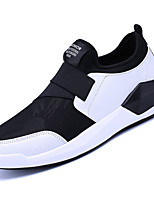 Men's Loafers & Slip-Ons Spring Fall Comfort Cowhide Casual Flat Heel Rivet Black White Walking