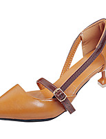 Da donna Tacchi PU (Poliuretano) Estate Footing Più materiali A stiletto Beige Marrone 5 - 7 cm
