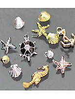 Shell Starfish Conch Phototherapy a Marine Department Nail Alloy Jewelry