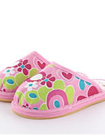 Girls' Slippers & Flip-Flops Spring Fall Comfort First Walkers Fabric Outdoor Casual Walking Low Heel Magic Tape Green Fuchsia White