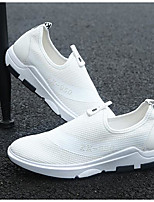 Men's Sneakers Comfort Tulle Spring Casual White Black Blue Flat