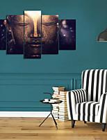 Impression d'Art Portraits Abstraits Traditionnel,Cinq Panneaux Format Horizontal Imprimé Décoration murale For Décoration d'intérieur