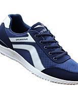 Для мужчин Кеды Удобная обувь Полотно Весна Повседневный Черный Серый Синий На плоской подошве