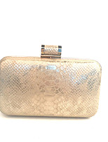 Women Bags All Seasons Metal Clutch with Metallic for Event/Party Gold