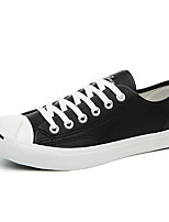 Men's Sneakers Canvas Tulle Spring White Black Flat